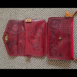 RARE! 1940's REVERSIBLE tooled leather purse